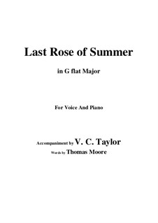 The Last Rose of Summer: G flat Major by folklore