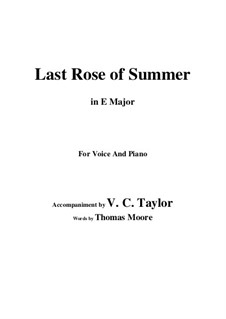 The Last Rose of Summer: E Major by folklore