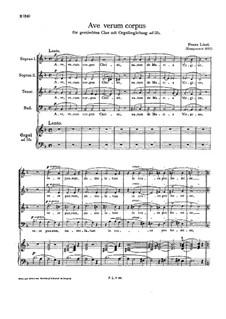 Ave verum corpus, S.44: Ave verum corpus by Franz Liszt