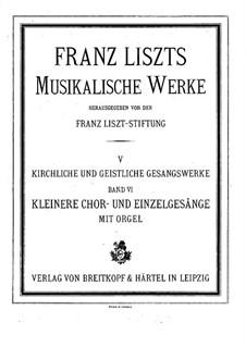Anima Christi, sanctifica me, S.46: pimeira versão by Franz Liszt