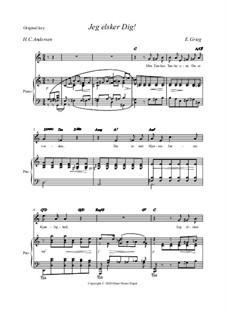 Hjertets Melodier (Melodies of the Heart), Op.5: No.3 Jeg elsker dig (original key) by Edvard Grieg