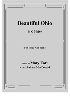 Beautiful Ohio. Song: G maior by Robert A. King
