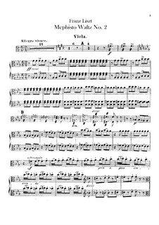 Waltz No.2 in E Flat Major for Orchestra, S.111: parte viola by Franz Liszt