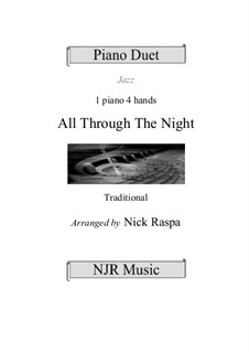 All Through the Night: For piano four hands (advanced intermediate) by folklore