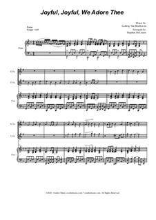 Ode to Joy (arr. S. DeCesare): Duet for Soprano and Tenor Saxophone by Ludwig van Beethoven