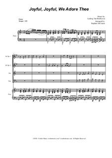 Ode to Joy (arr. S. DeCesare): For Brass Quartet and Piano by Ludwig van Beethoven