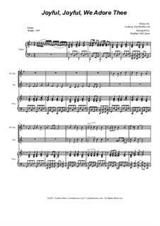 Ode to Joy (arr. S. DeCesare): Duet for Bb-Trumpet and French Horn by Ludwig van Beethoven