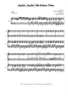 Ode to Joy (arr. S. DeCesare): Duet for Violin and Cello by Ludwig van Beethoven