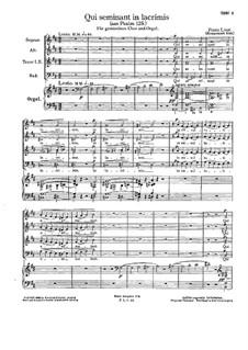 Qui seminant in lacrimis, S.63: Qui seminant in lacrimis by Franz Liszt