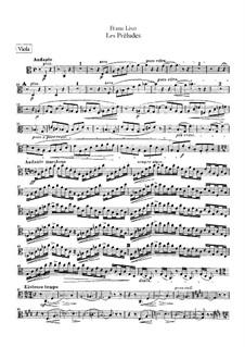 Symphonic Poem No.3 'Les préludes' for Orchestra, S.97: parte viola by Franz Liszt
