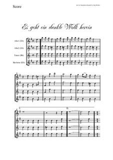 Es geht ein dunkle Wolk herein: para quarteto de saxofone by folklore