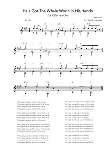 He's Got the Whole World in His Hands: Para Guitarra by folklore