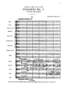 Piano Concerto No.2, Op.23: Partitura completa by Edward MacDowell