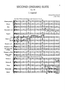 Suite for Orchestra No.2 'Indian', Op.48: Movement I 'Legend' by Edward MacDowell