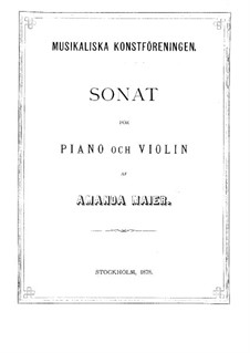 Sonata in B Minor for Violin and Piano: Sonata in B Minor for Violin and Piano by Amanda Maier