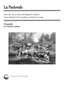 No.3 Pastorale: para alto saxofone e piano by Johann Friedrich Burgmüller