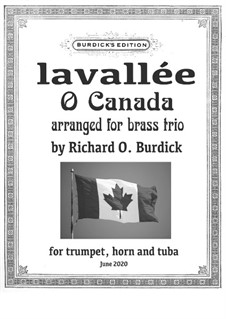 Ô Canada: For wind trio by Calixa Lavallée