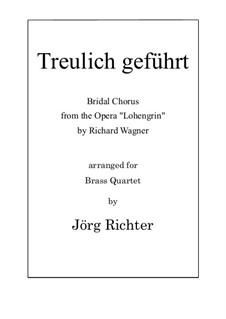 Bridal Chorus: para quarteto de bronze by Richard Wagner
