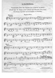 Variations on 'Là ci darem la mano' from 'Don Giovanni' by Mozart, WoO 28: Cor anglais part by Ludwig van Beethoven