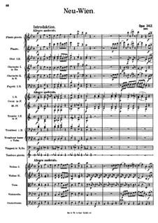 New Vienna, Op.342: Partitura completa by Johann Strauss (Sohn)