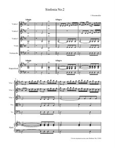 Sinfonia No.2 for String Orchestra: Sinfonia No.2 for String Orchestra by Johann Rosenmüller
