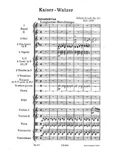 Emperor Waltz, Op.437: partitura completa by Johann Strauss (Sohn)