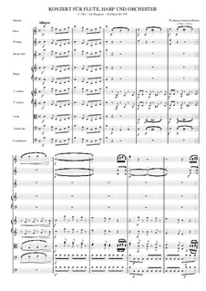 Concerto for Flute, Harp and Orchestra in C Major, K.299: Movement 1 by Wolfgang Amadeus Mozart