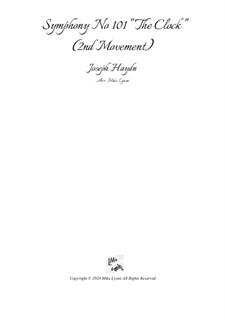 Symphony No.101 in D Major 'The Clock', Hob.I/101: movimento II by Joseph Haydn