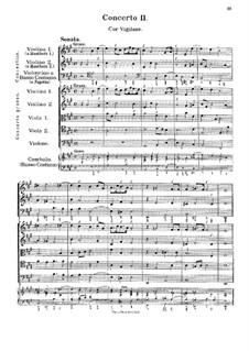 Concerto No.2 in A Major 'Cor Vigilans': para orquestra de camara by Georg Muffat