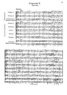 Concerto No.5 in D Major 'Saeculum': para orquestra de camara by Georg Muffat