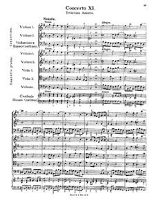 Concerto No.11 in E Minor 'Delirium Amoris': Concerto No.11 in E Minor 'Delirium Amoris' by Georg Muffat
