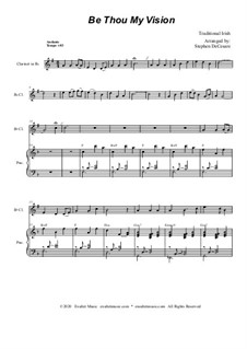 Be Thou My Vision: For Bb-Clarinet solo and Piano by folklore