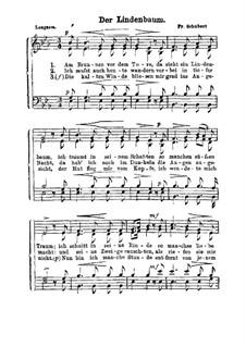 No.5 Der Lindenbaum (The Linden Tree): para vozes by Franz Schubert