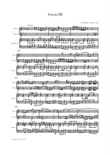 Sonata in Bb, HWV 388 Op.2 Nr.3: Sonata in Bb by Georg Friedrich Händel