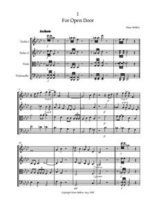 String quartet No.2 For Open Door: String quartet No.2 For Open Door by Hans Bakker