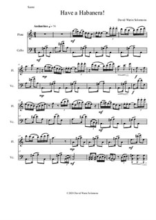 Have a Habanera: For flute and cello by David W Solomons