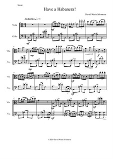 Have a Habanera: For viola and cello by David W Solomons