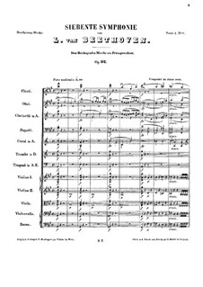 Complete Symphony: partitura by Ludwig van Beethoven