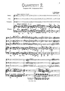 Three Piano Quartets, WoO 36: quarteto No 2 by Ludwig van Beethoven