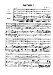 Three Piano Quartets, WoO 36: Quarteto No 3 by Ludwig van Beethoven