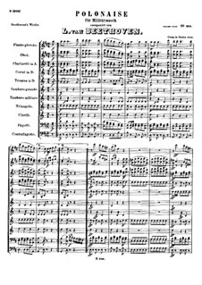 Polonaise for Military Band, WoO 21: partitura completa by Ludwig van Beethoven