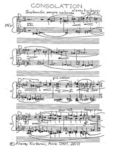 Consolation (Pour ceux qui pleurent), Op.116 No.2: Consolation (Pour ceux qui pleurent) by Alexey Kurbanov