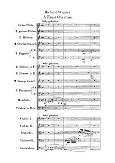 The Faust Overture, WWV 59: partitura completa by Richard Wagner