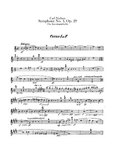 Symphony No.4 'The Inextinguishable', FS 76 Op.29: French horns I-IV parts by Carl Nielsen