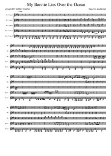 My Bonnie is over the Ocean: For clarinet quintet by folklore