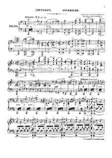 Complete Opera: Overture, para piano by Alexander Borodin