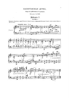 The Captain's Daughter: Partitura Piano-vocal by César Cui