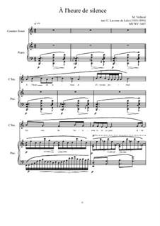 5 songs based on the lyrics of C. Leconte de Lisle: No.1, MVWV 1407 by Maurice Verheul