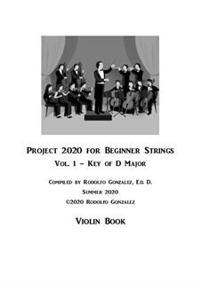 Project 2020 for Beginner Strings: Violin Book by folklore