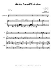 O Little Town of Bethlehem: For Duet for Flute and Bb-Clarinet by Lewis Henry Redner